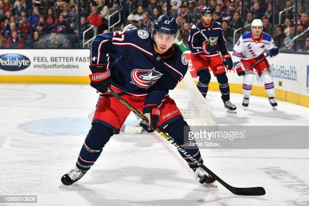 Ryan Murray of the Columbus Blue Jackets skates against the New York Rangers on November 10 2018 at Nationwide Arena in Columbus Ohio
