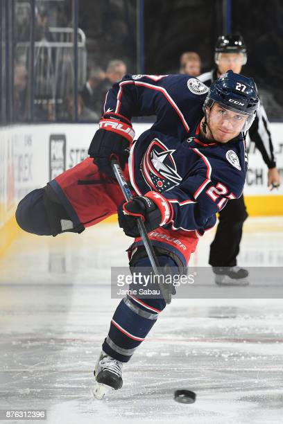 Ryan Murray of the Columbus Blue Jackets skates against the New York Rangers on November 17 2017 at Nationwide Arena in Columbus Ohio