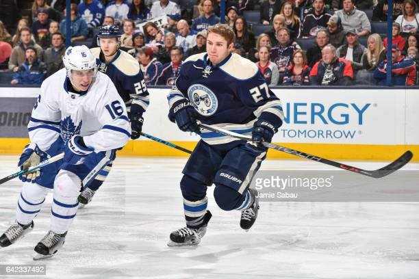 Ryan Murray of the Columbus Blue Jackets skates against the Toronto Maple Leafs on February 15 2017 at Nationwide Arena in Columbus Ohio