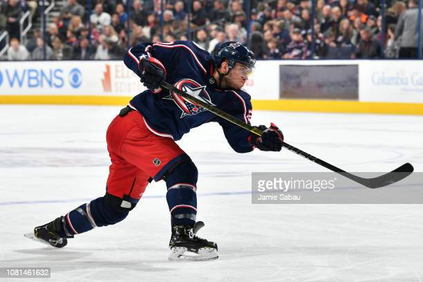 Ryan Murray of the Columbus Blue Jackets skates against the Vancouver Canucks on December 11 2018 at Nationwide Arena in Columbus Ohio