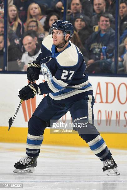 Ryan Murray of the Columbus Blue Jackets skates against the Vegas Golden Knights on December 17 2018 at Nationwide Arena in Columbus Ohio