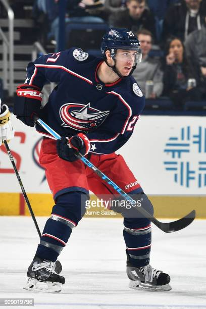 Ryan Murray of the Columbus Blue Jackets skates against the Vegas Golden Knights on March 6 2018 at Nationwide Arena in Columbus Ohio
