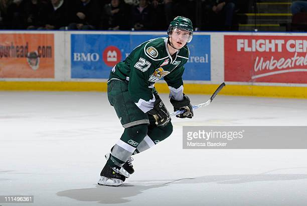 Ryan Murray of the Everett Silvertips skates against the Kelowna Rockets on December 28 2010 at Prospera Place in Kelowna British Columbia Canada