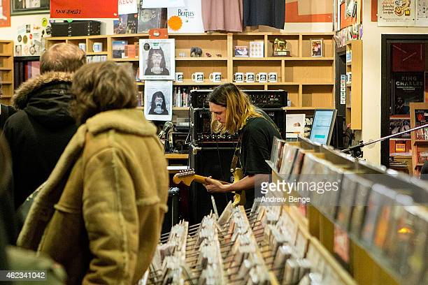 Ryan Needham and Nestor Matthews of Menace Beach perform at Jumbo Records Town on January 19 2015 in Leeds United Kingdom