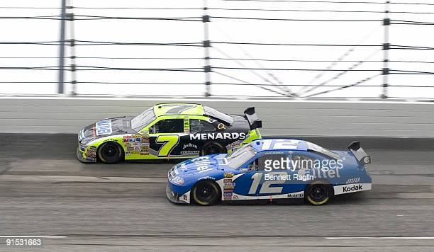 Ryan Newman and Robby Gordon during the NASCAR NEXTEL Cup Series, Dodge Avenger 500, May 13 Darlington Raceway, Darliington, South Carolina