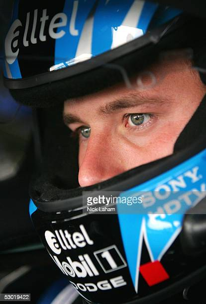 Ryan Newman driver of the alltel Dodge sits in his car during the NASCAR Nextel Cup MBNA RacePoints 400 practice on June 4 2005 at Dover...