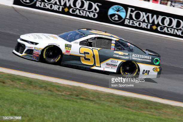 Ryan Newman driver of the Bass Pro Shops/Cabela's Chevy during practice for the Monster Energy Cup Series Foxwoods Resort Casino 301 race on July...
