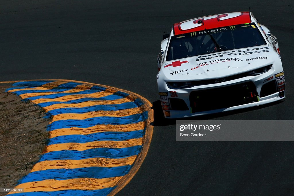 Ryan Newman, driver of the #31 Grainger/American Red Cross Chevrolet, drives during qualifying for the Monster Energy NASCAR Cup Series Toyota/Save Mart 350 at Sonoma Raceway on June 23, 2018 in Sonoma, California.
