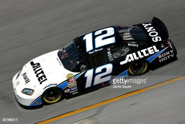 Ryan Newman driver of the Penske Racing Dodge in action during practice for the NASCAR Nextel Cup Daytona 500 on February 12 2005 at the Daytona...