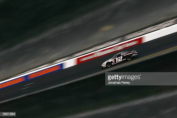 Ryan Newman drives his Penske Racing Alltel Dodge during the NASCAR Winston Cup Sylvania 300 on September 13 2003 at New Hampshire International...