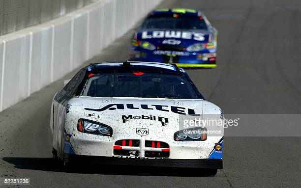 Ryan Newman drives the Alltel Dodge during the NASCAR Nextel Cup Auto Club 500 on February 27 2005 at the California Speedway in Fontana California
