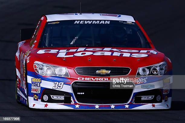 Ryan Newman drives the Quicken Loans Chevrolet during practice for the NASCAR Sprint Cup Series CocaCola 600 at Charlotte Motor Speedway on May 23...
