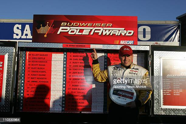 NASCAR Ryan Newman during practice for the NEXTEL Cup UAWDaimler Chrysler 400 on March 11 2005 in Las Vegas NV Jimmie Johnson won the race