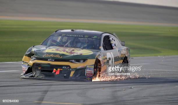 Ryan Newman Richard Childress Racing Bass Pro Shops/Cabela's Chevrolet Camaro during the running of the 60th Daytona 500 on Sunday February 182018 at...