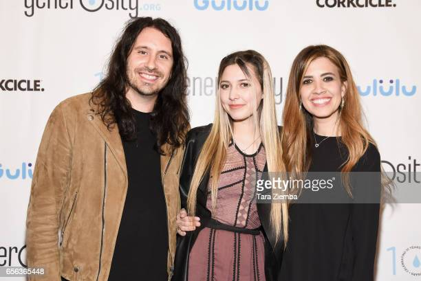 Ryan Nikki and Jaslyn Edgar attend a Generosityorg fundraiser for World Water Day at Montage Hotel on March 21 2017 in Beverly Hills California