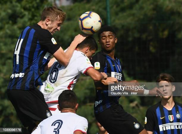 Ryan Nolan of FC Internazionale in action during Fc internazionale U19 V Cagliari U19 match at Stadio Breda on September 14 2018 in Sesto San...