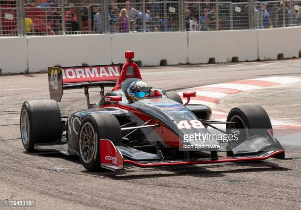Ryan Normman during the Indy Lights Race of St Petersburg on March 9 at the Streets of St Petersburg in St Petersburg FL