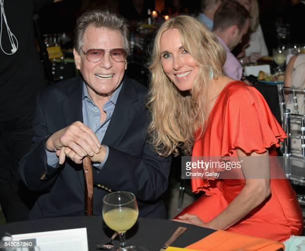 Ryan O'Neal and Farrah Fawcett Foundation President and CEO Alana Stewart at the Farrah Fawcett Foundation's 'TexMex Fiesta' 2017 at Wallis Annenberg...
