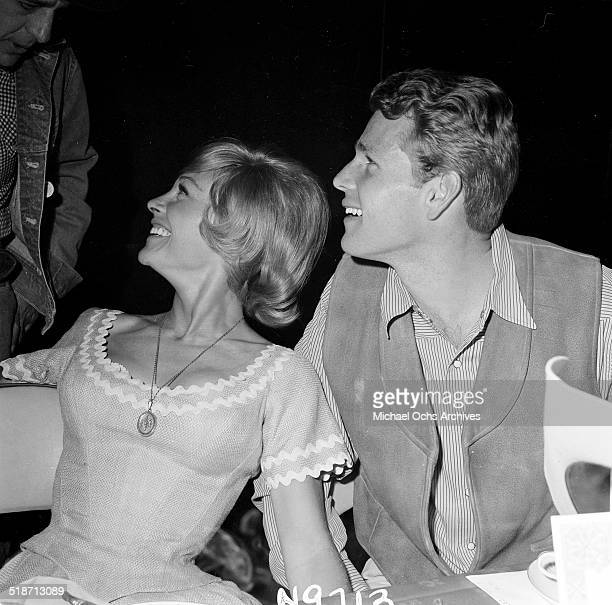 Ryan O'Neal and Joanna Moore attend an event in Los AngelesCA
