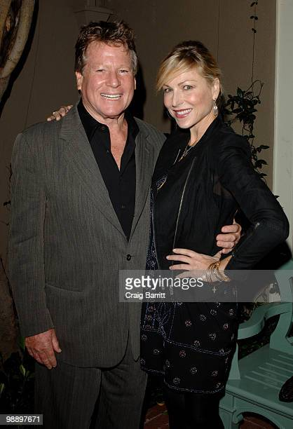 Ryan O'Neal and Tatum O'Neal at Raquel Welch 'Beyond The Cleavage' Book Party Hosted By Alana Stewart at Oscar de La Renta Boutique on May 6 2010 in...