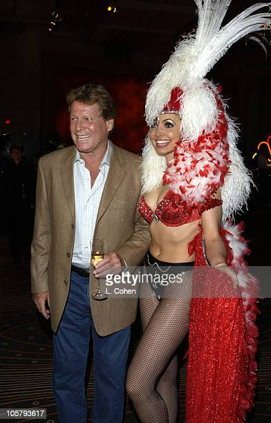 """Ryan O'Neal cast member from """"Miss Match"""" during NBC All - Star Casino Night - 2003 TCA Press Tour - Reception in Hollywood, CA, United States."""