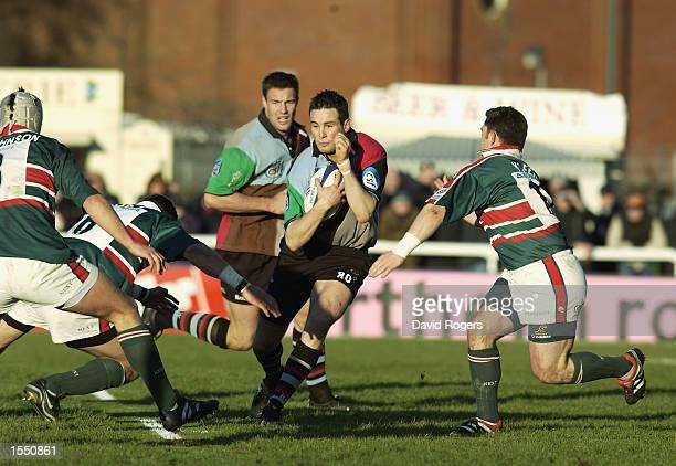 Ryan O'Neill of Harlequins runs with the ball during the Zurich Premiership match between the NEC Harlequins and Leicester Tigers held on December 22...