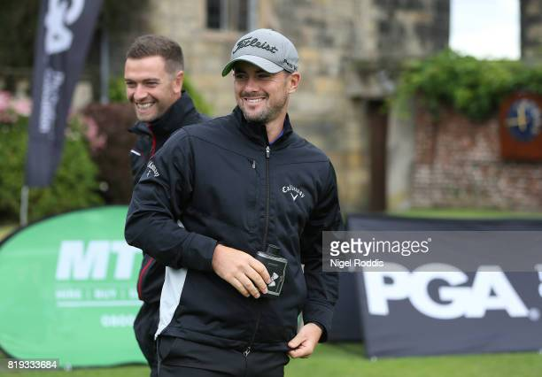 Ryan O'Neill of Pentwortham Golf Club and David Crosby of Fleetwood Golf Club during the Golfbreakscom PGA Fourball Championship North Qualifier at...