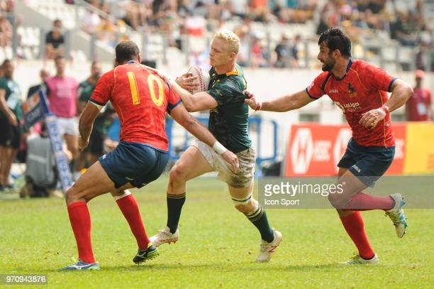Ryan Oosthuizen of South Africa during the match between South Africa and Spain at the HSBC Paris Sevens stage of the Rugby Sevens World Series at...