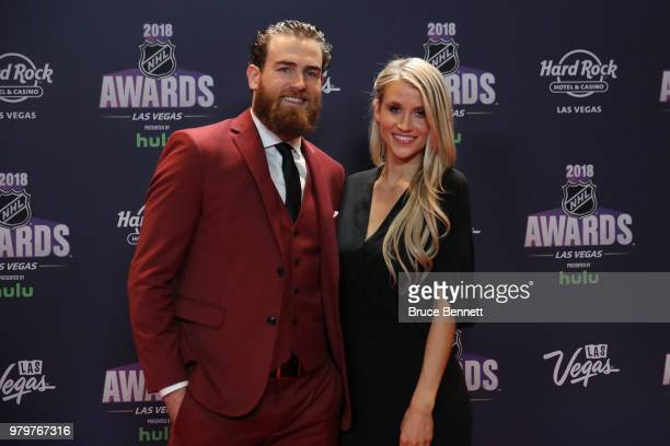Ryan O'Reilly of the Buffalo Sabres and guest arrive at the 2018 NHL Awards presented by Hulu at the Hard Rock Hotel Casino on June 20 2018 in Las...