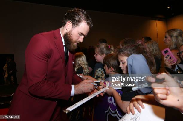 Ryan O'Reilly of the Buffalo Sabres arrives at the 2018 NHL Awards presented by Hulu at the Hard Rock Hotel Casino on June 20 2018 in Las Vegas Nevada