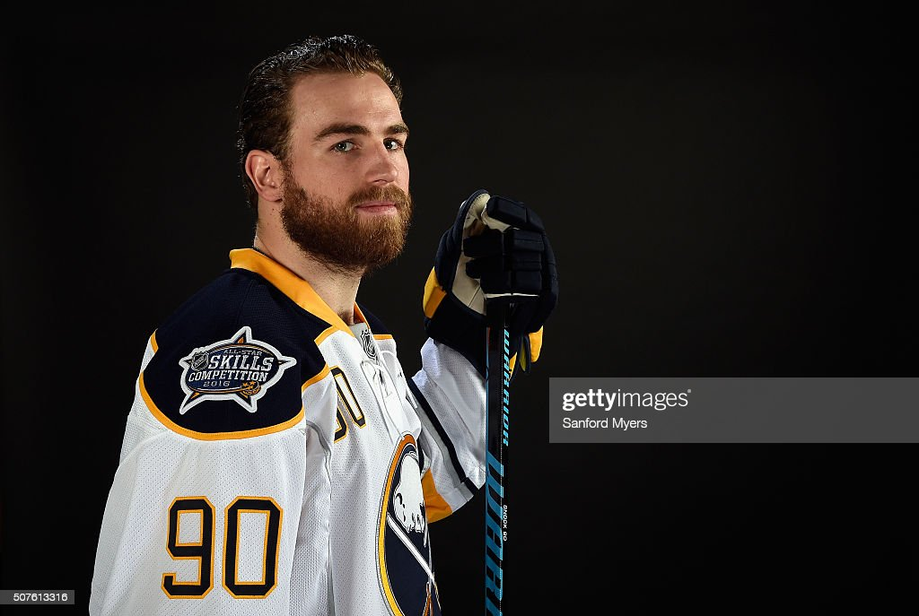 Ryan O'Reilly #90 of the Buffalo Sabres poses for a 2016 NHL All-Star portrait at Bridgestone Arena on January 30, 2016 in Nashville, Tennessee.