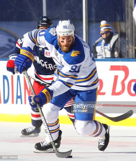 Ryan O'Reilly of the Buffalo Sabres skates against the New York Rangers during the 2018 Bridgestone NHL Winter Classic at Citi Field on January 1...