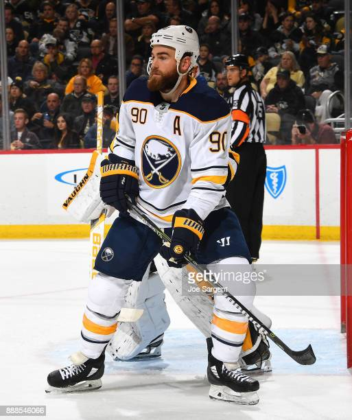 Ryan O'Reilly of the Buffalo Sabres skates against the Pittsburgh Penguins at PPG Paints Arena on December 2 2017 in Pittsburgh Pennsylvania