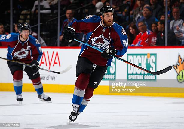 Ryan O'Reilly of the Colorado Avalanche skates against the Nashville Predators at Pepsi Center on April 7 2015 in Denver Colorado The Avalanche...