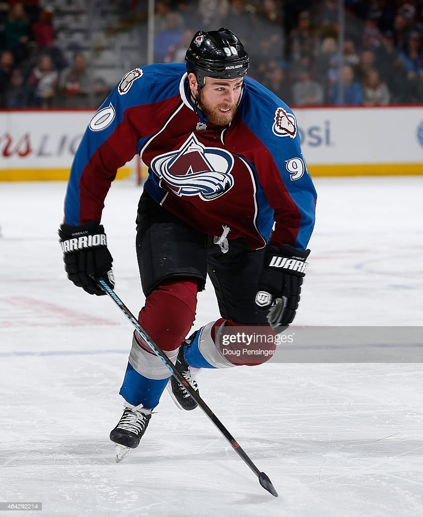 Ryan O'Reilly #90 of the Colorado Avalanche skates against the Tampa Bay Lightning at Pepsi Center on February 22, 2015 in Denver, Colorado. The Avalanche defeated the Lightning 5-4.