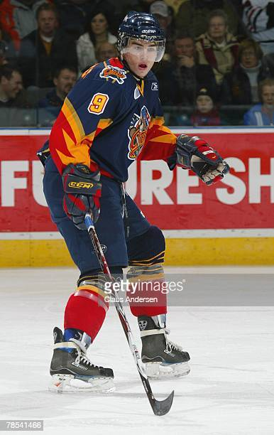 Ryan O'Reilly of the Erie Otters skates in a game against the London Knights on December 14 2007 at the John Labatt Centre in London Ontario The...