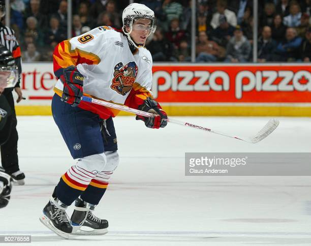 Ryan O'Reilly of the Erie Otters skates in a game against the London Knights on March 14 2008 at the John Labatt Centre in London Ontario Canada The...