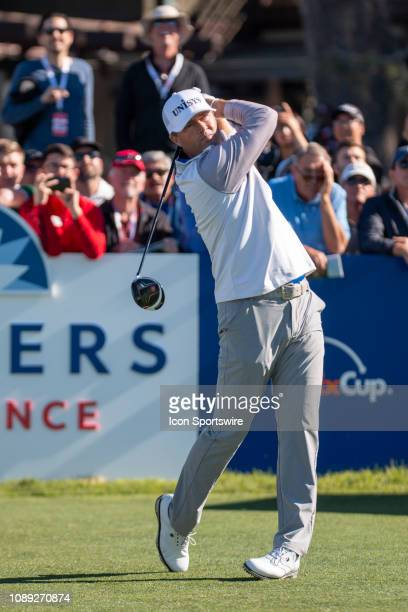 Ryan Palmer during the first round of the Farmers Insurance Open at Torrey Pines Golf Club on January 24 2019 in San Diego California