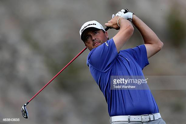 Ryan Palmer hits a shot on the 16th hole during the final round of the Humana Challenge in partnership with the Clinton Foundation on the Arnold...