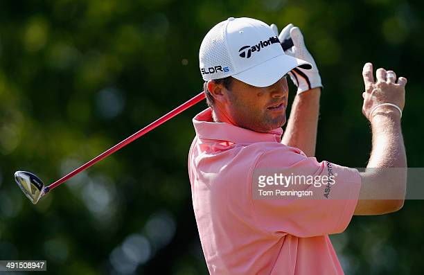 Ryan Palmer hits a tee shot during Round Two of the HP Byron Nelson Championship at the TPC Four Seasons Resort on May 16 2014 in Irving Texas