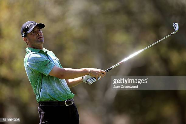 Ryan Palmer hits off the 17th tee during the first round of the Valspar Championship at Innisbrook Resort Copperhead Course on March 10 2016 in Palm...