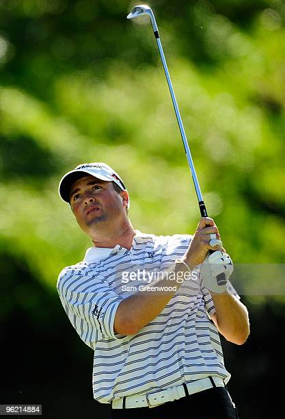 Ryan Palmer plays a shot during the final round of the Sony Open at Waialae Country Club on January 17 2010 in Honolulu Hawaii