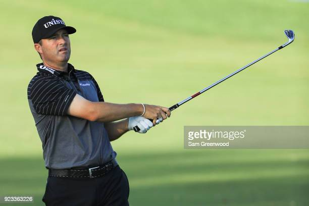 Ryan Palmer plays his shot on the sixth hole during the second round of the Honda Classic at PGA National Resort and Spa on February 23 2018 in Palm...