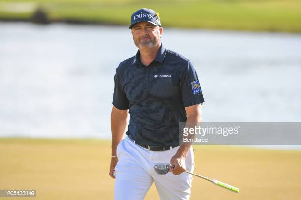 Ryan Palmer walks off the 16th green during the final round of The Honda Classic at PGA National Champion course on March 1 2020 in Palm Beach...