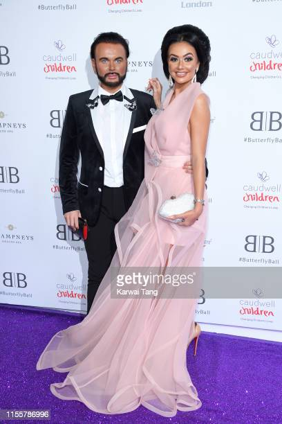Ryan Paul Antony and Leah Fletcher attend the Butterfly Ball 2019 at The Grosvenor House Hotel on June 13 2019 in London England