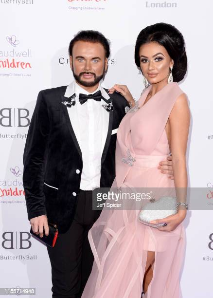 Ryan Paul Antony and Leah Fletcher attend the Caudwell Children Butterfly Ball 2019 at The Grosvenor House Hotel on June 13 2019 in London England
