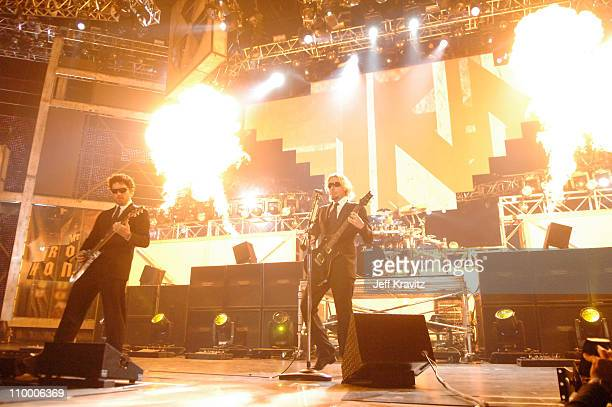 Ryan Peake and Chad Kroeger of Nickelback during 2007 VH1 Rock Honors Show at Mandalay Bay in Las Vegas Nevada United States