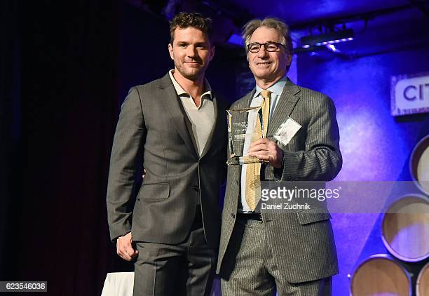 Ryan Phillippe and Barry Scheck attend A Night Out To Benefit The Innocence Project at City Winery on November 15 2016 in New York City