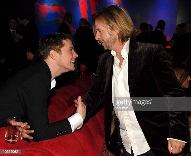Ryan Phillippe and David Spade during InStyle & Warner Bros. 2006 Golden Globes After Party - Inside at Beverly Hilton in Beverly Hills, California,...