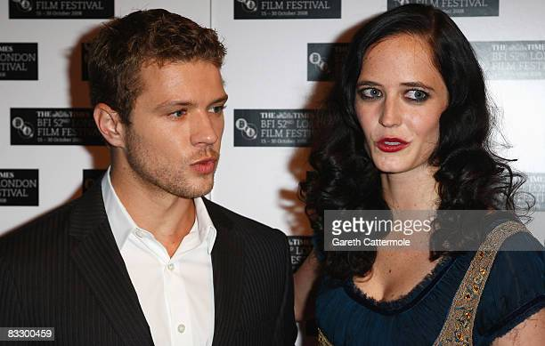 Ryan Phillippe and Eva Green arrive at the World Premiere of 'Franklyn' during the BFI 52nd London Film Festival at Odeon West End on October 16 2008...